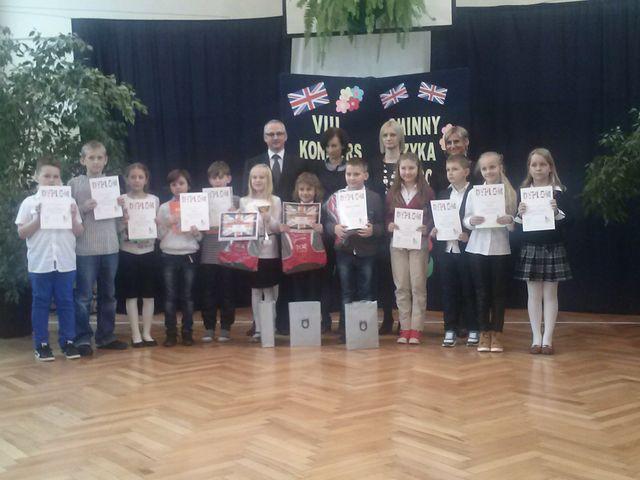 Zdjęcia z galerii fotografii Gminne Konkursy Języka Angielskiego dla uczniów szkół podstawowych
