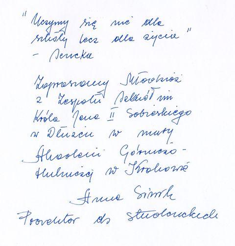 Zdjęcia z galerii fotografii Przesłanie Prorektora ds. Studenckich Akademii Górniczo Hutniczej w Krakowie pani prof. Anny Siwik dla uczniów Naszej Szkoły